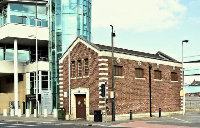 Former pumping station, Oxford Street, Belfast (April 2019)