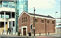 J3474 : Former pumping station, Oxford Street, Belfast (April 2019) by Albert Bridge