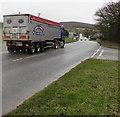 SJ3058 : R.Adams & Sons lorry, Wrexham Road,  Hope, Flintshire by Jaggery