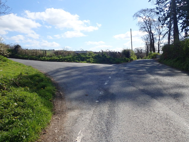 Junction in Carrickrovaddy Road East of Jerrettspass
