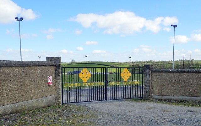 The main gates of John Martin GFC,  Glenn