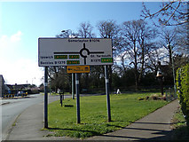 TM5294 : Roadsign on the B1074 Somerleyton Road by Adrian Cable