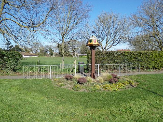 Oulton Village sign