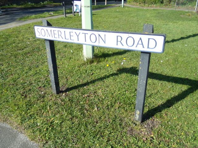 Somerleyton Road sign