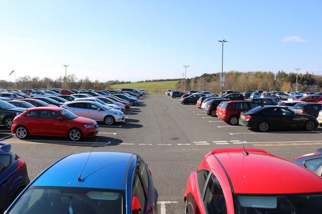 Car Park at Ayr Hospital