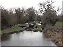 SO9868 : Tardebigge flight of locks, Worcester & Birmingham Canal by Rudi Winter