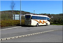 ST1599 : Williams Coaches Brecon coach in Bargoed by Jaggery