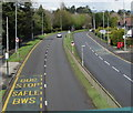 ST3091 : A4051 from Malpas towards Cwmbran by Jaggery