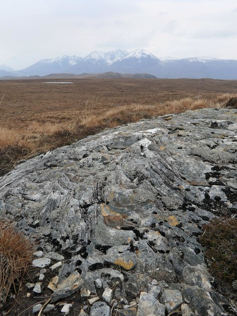 Rock on moorland below Cnoc an Droighinn, Ross and Cromarty