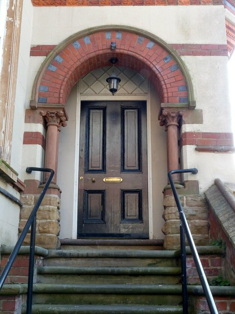 Front door, The Tower House, Park Row, Nottingham
