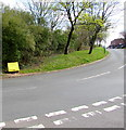 ST1288 : Yellow grit box, Bronmynydd, Abertridwr by Jaggery