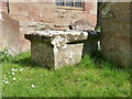 SP2490 : Infant's chest tomb in St Cuthbert's churchyard by Richard Law