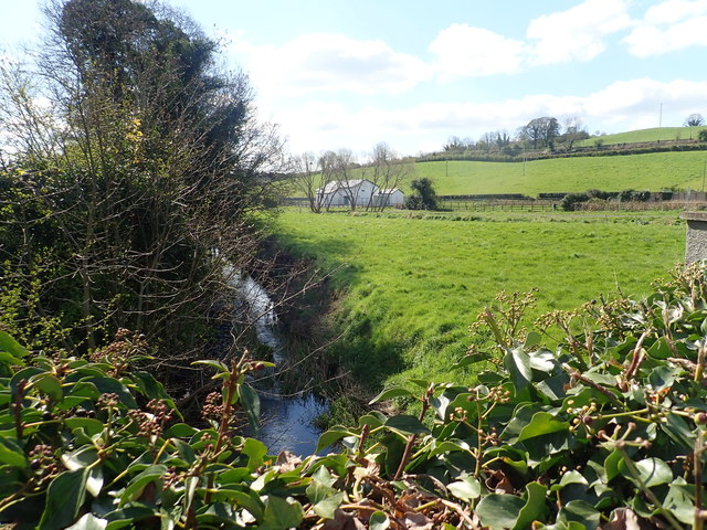 Stream feeding the Newry Canal viewed from the Carrickrovaddy Road