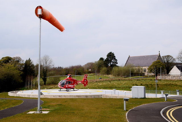 Wind sock, Omagh Hospital and Primary Care Complex