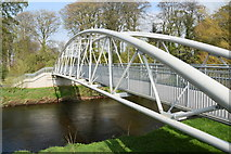 H4473 : Footbridge over the Strule River, Gortmore / Lisanelly by Kenneth  Allen