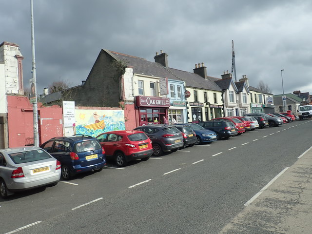 Shops facing Castlewellan's Upper Square