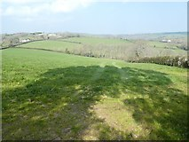 SX8290 : Field and view north of Honeyway by David Smith