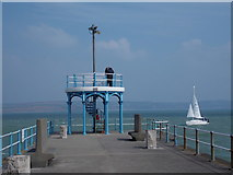 SY6878 : Weymouth: approaching the end of South Pier by Chris Downer