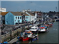 SY6778 : Weymouth: downstream from Town Bridge by Chris Downer