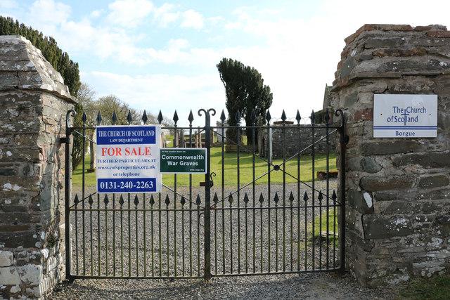 Entrance to Borgue Kirkyard