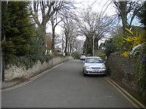 SK4958 : Church Lane, Sutton in Ashfield by Richard Vince