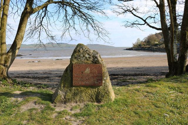 Memorial Stone at Nun Mill Bay