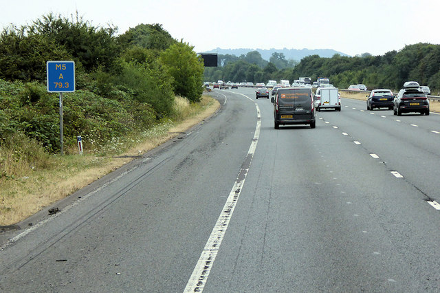 Southbound M5 near Staverton