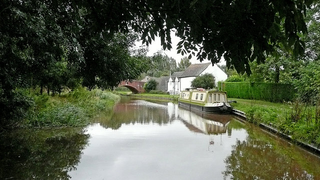 Canal near Aston-by-Stone in Staffordshire