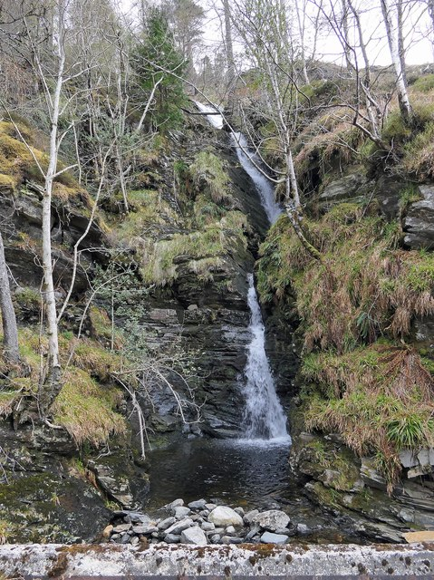Waterfall on the Allt a' Mhuilinn, Ross and Cromarty