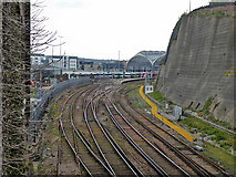 TQ3005 : West Coastway line approaches to Brighton Station by Robin Webster