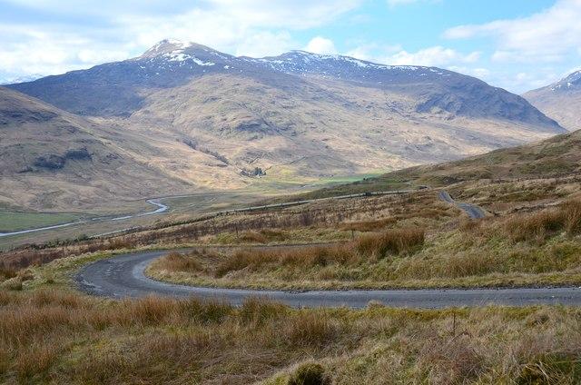 Hydro road above Glen Lochay