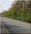 SO1110 : Fenced-off part of Merthyr Road, Tafarnaubach by Jaggery