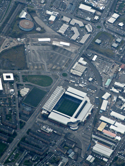 Ibrox Stadium from the air