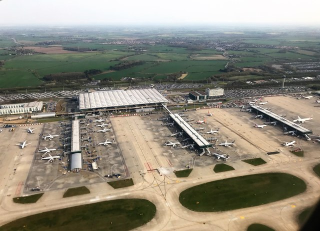 Aerial view of London Stansted Airport
