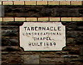 ST2687 : 1884 tablet on Tabernacle Congregational Chapel, Rhiwderin by Jaggery