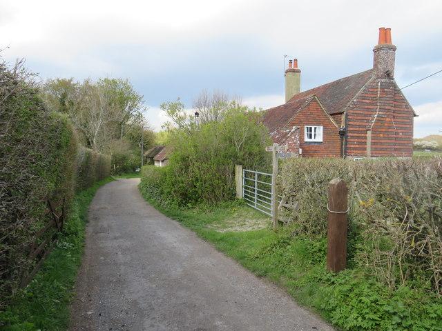 Farm access road near Clayton