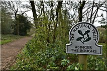 TQ1148 : Abinger Roughs, National Trust sign by Michael Garlick