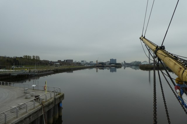 Clyde from the bow of Glenlee