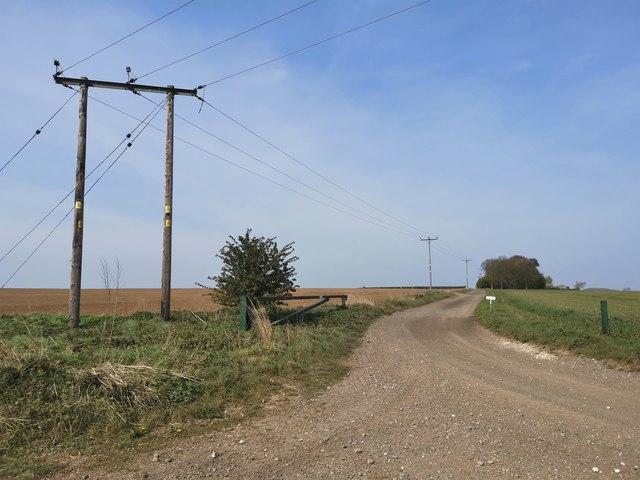 Track to Bonby Top Farm