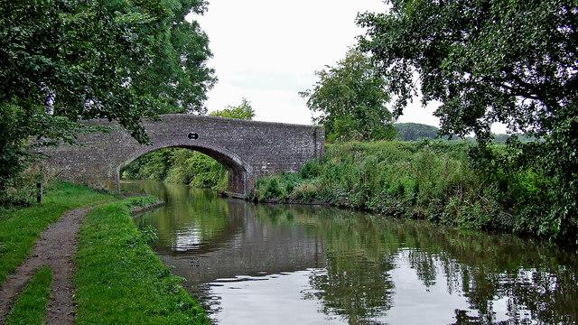 Swivel Bridge west of Great Haywood in Staffordshire