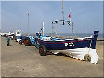 NZ6025 : Fishing boats on Redcar seafront by Oliver Dixon