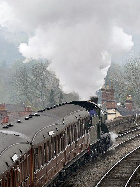 Departing Bewdley Station on the Severn Valley Railway