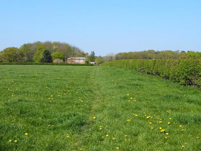 Footpath from Hermitage Thornes to Twemlow Lane