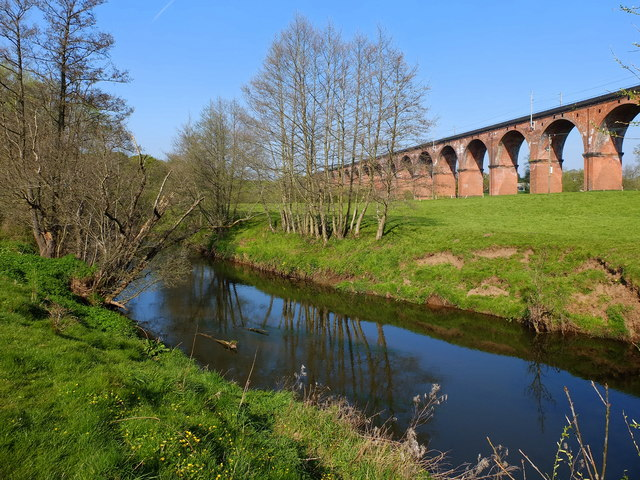Twemlow Viaduct and The River Dane