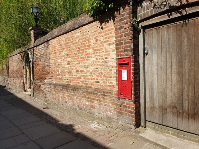 George V Post Box, Canterbury Cathedral, Canterbury