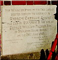 SU4766 : Carnegie Free Library 1905 foundation stone, Newbury by Jaggery
