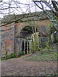 SP3677 : Side arches, east side of railway viaduct over the River Sowe, Willenhall, Coventry by Robin Stott