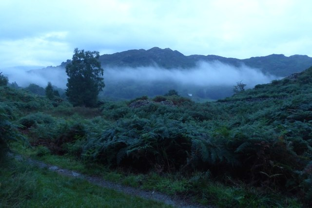 Low cloud over Loughrigg Tarn