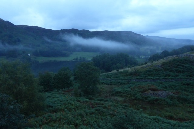 Low cloud by Little Loughrigg