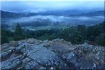 NY3404 : Rocks on Neaum Crag by DS Pugh